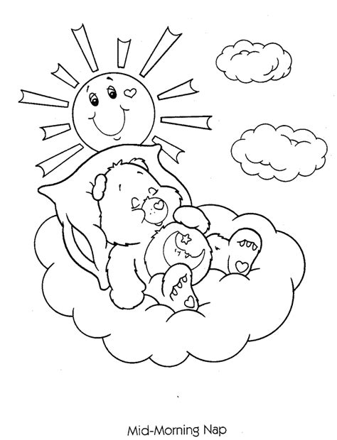 coloring pages morning mid morning nap care bears coloring pages coloring home