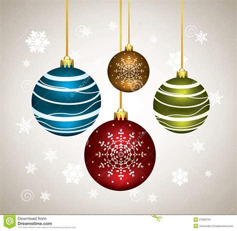 imagenes navidad bolas bolas de la navidad del vector ilustraci 243 n del vector