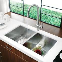Sinks Undermount Kitchen Vg14008 32 Quot Undermount Stainless Steel Kitchen Sink And Faucet Modern Kitchen Sinks New