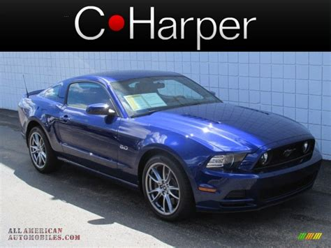 2014 mustang gt impact blue 2014 ford mustang gt premium coupe in impact blue