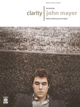 john mayer comfortable lyrics clarity sheet music direct