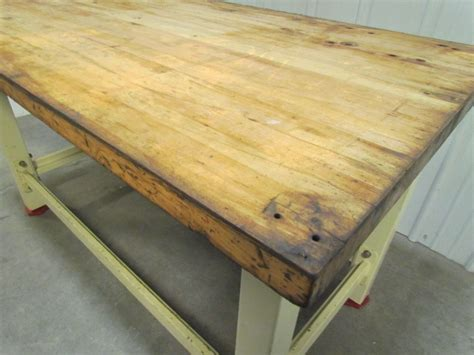 butcher block bench top heavy duty butcher block top workbench table bolted steel