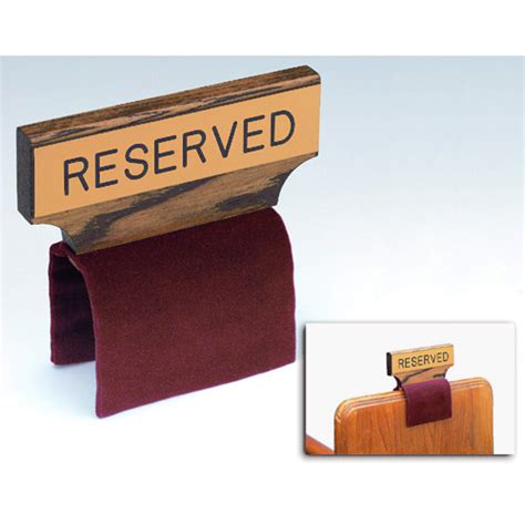 church pew reserved signs