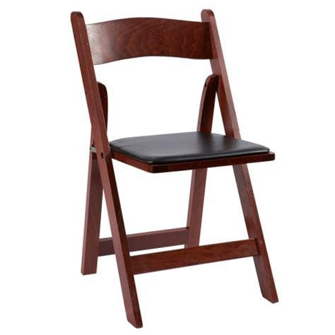 butler rents mahogany wood folding chair rentals