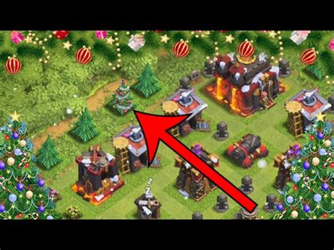 in coc xmas tree in 2016 clash of clans how to get a tree on the outside of your base