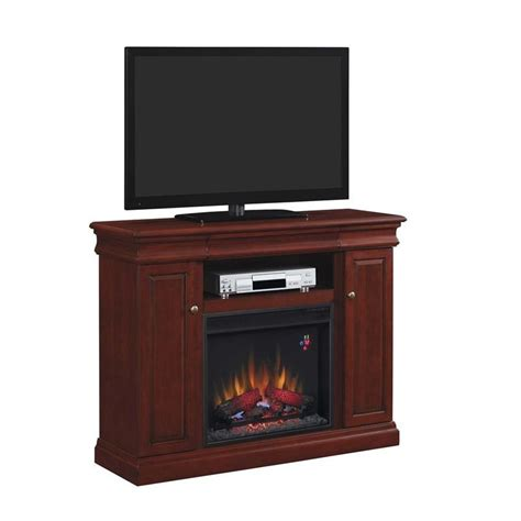 classic louie electric fireplace media mantel