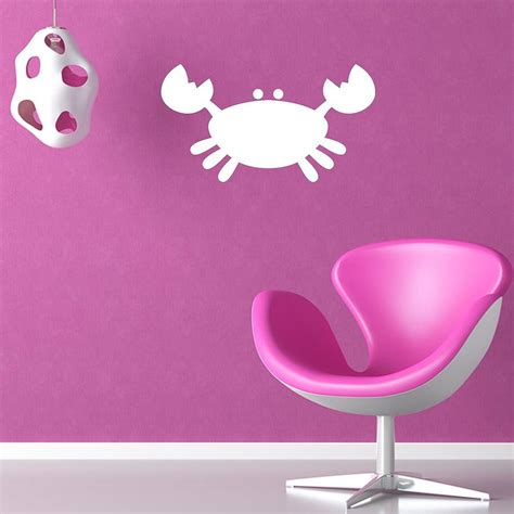 kids bathroom wall stickers kids crab bathroom vinyl wall sticker by mirrorin notonthehighstreet com