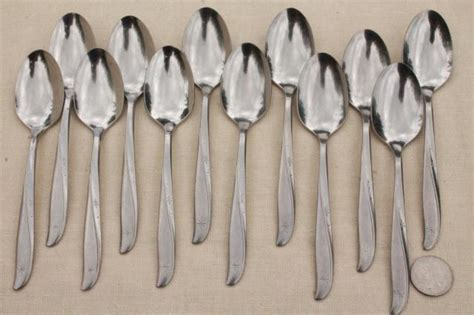 vintage stainless flatware, Oneida Twin Star silverware