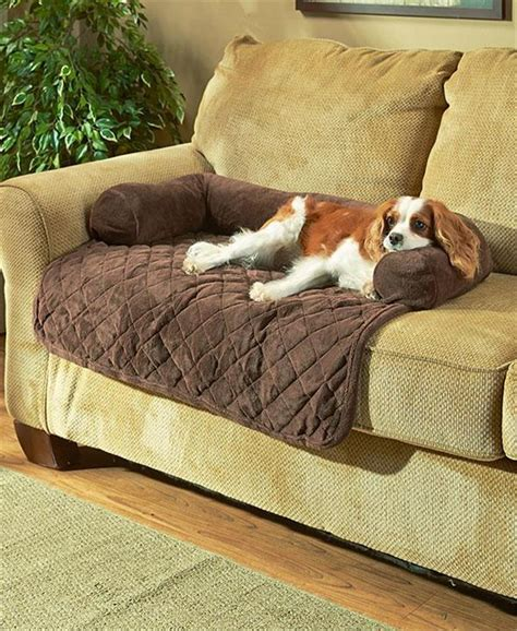 dog couch beds 36 quot plush cozy diamond quilted pet dog cat bolster bed 3
