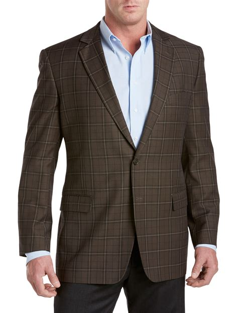 stores with big and tall sections oak hill men s big and tall windowpane sport coat shop