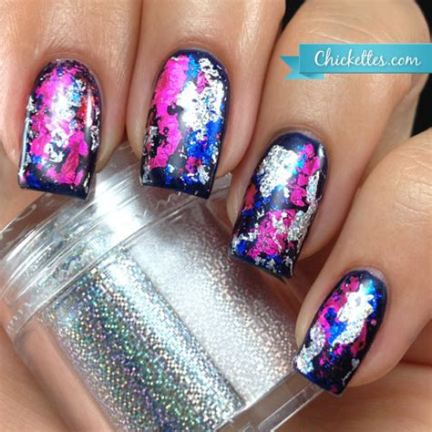 foil nail graffiti with nail transfer foils chickettes soak