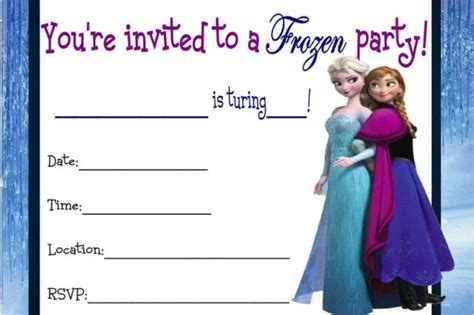 printable frozen invitations 9 best images of frozen birthday invitations printable