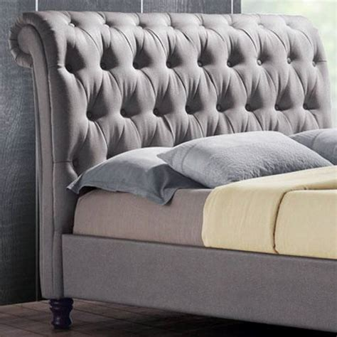 Bedroom With Dark Furniture birlea furniture castello upholstered beds buttoned