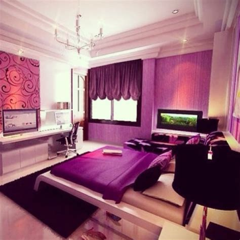 purple themed bedroom my future room