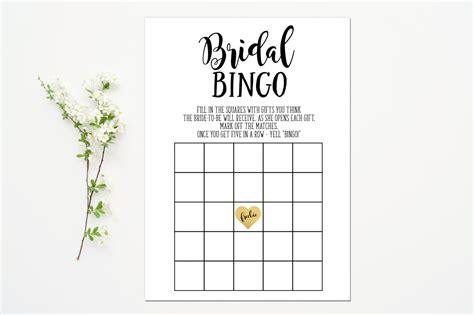 printable bridal shower bingo pdf printable bridal bingo game bridal shower game black gold