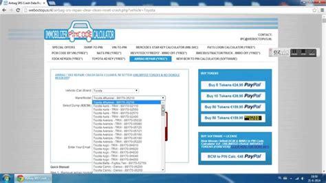 airbag reset tool software free online airbag srs repair crash data cleaner