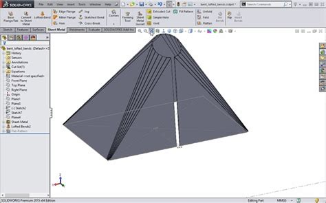 lofted sheet metal solidworks creating non parallel lofted bends in solidworks