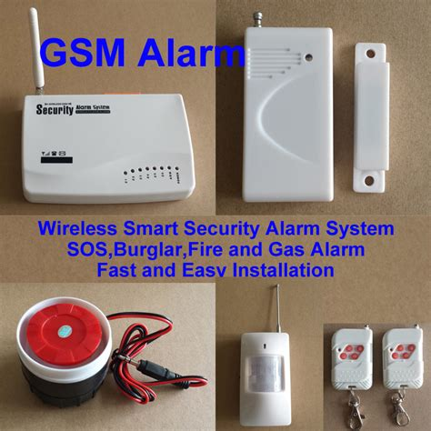 gsm home security wireless smart security alarm system sos