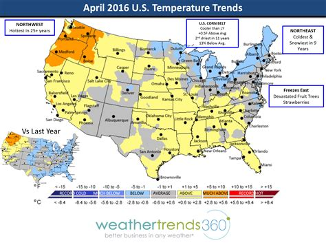 us weather map april april 2016 global weather summary weathertrends360