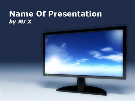 Television Screen Abstract Model Powerpoint Template Tv Powerpoint Template