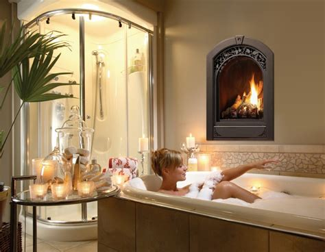 fireplace in bathroom marquis serenity gas fireplace traditional bathroom