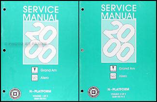 service manual 2000 oldsmobile alero free repair manual 2000 oldsmobile alero free repair 2000 grand am alero repair shop manual original 2 volume set