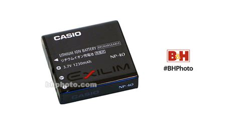 Casio Np 40 3 7v 1230mah Surabaya casio np 40 lithium ion battery 3 7v 1230mah np 40 b h photo