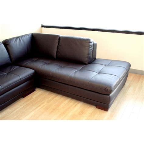 brown sectional with chaise diana dark brown sofa chaise sectional see white