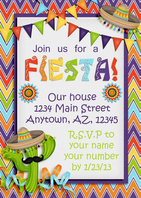 17 Best Images About Fiesta On Pinterest Mustache Straws Fiesta Invitations And Mexican Mexican Invitation Templates Free