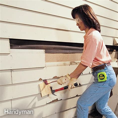 how to fix house siding how to replace siding the family handyman