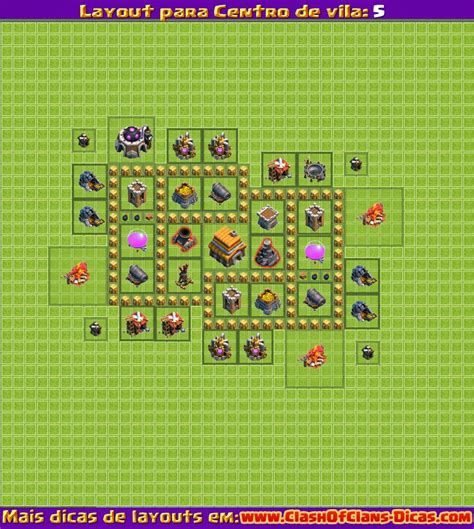 layout vila nivel 5 clash of clans mega tutoriais