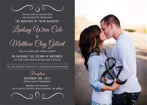 Wedding Announcement In Church by 136 Best Images About Lds Wedding Invitations On