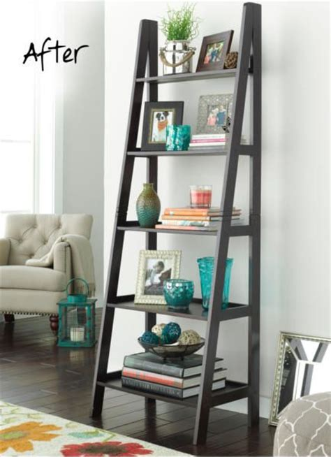 17 best ideas about bookshelf styling on pinterest 187 8 diy ladder shelf decorating ideas to style your home decor