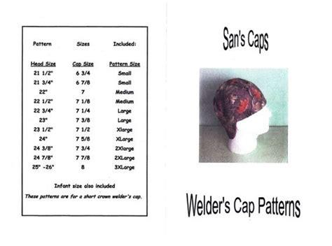 pattern to make welding caps welder s cap hat pattern sewing welding caps pinterest