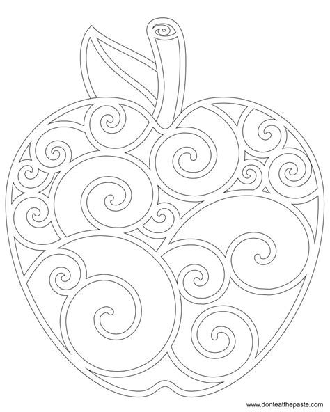 fall apples coloring pages don t eat the paste apple coloring page