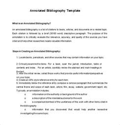 template for bibliography 7 annotated bibliography templates free word pdf