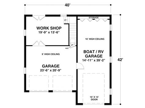Garage Shop Floor Plans Rv Garage Plans Rv Garage Plan With Workshop And