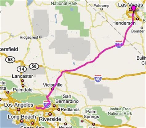 map of los angeles and las vegas las vegas to los angeles map
