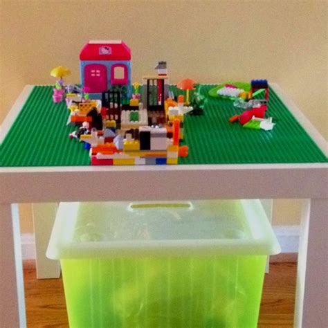 diy lego table ikea side table lego pads liquid nail