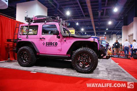 pink jeep 2 door 2012 sema surco pink 2 door jeep jk wrangler