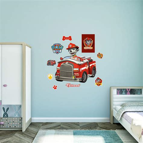 fire truck bedroom decor marshall s fire truck wall decal shop fathead 174 for paw