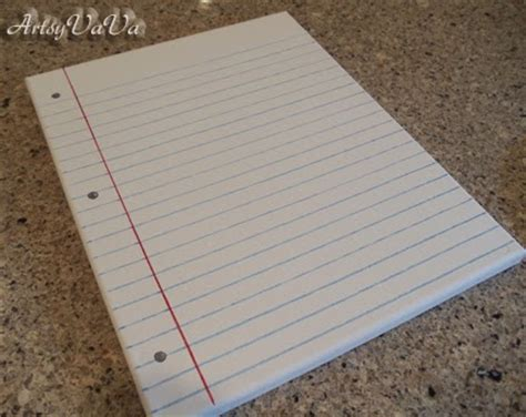 How To Make Notebook Paper Look - artsy vava notebook paper canvas