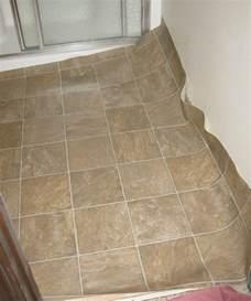 replacing linoleum flooring in bathroom