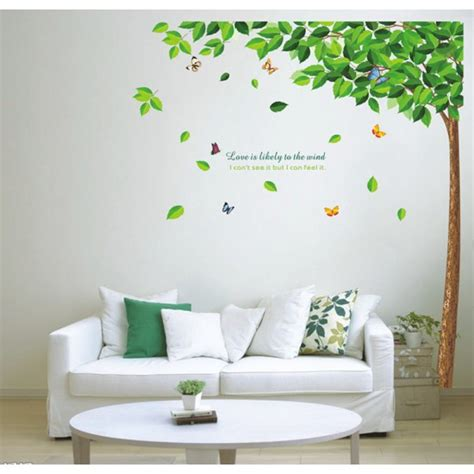 wall stickers uk gorgeous tree with butterflies wall decals