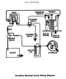 overdrive electrical circuit wiring diagram for 1955