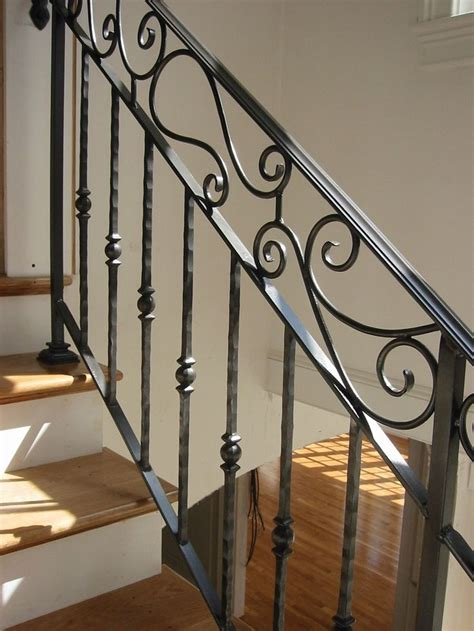Metal Banister Railing by 25 Best Ideas About Wrought Iron Stairs On