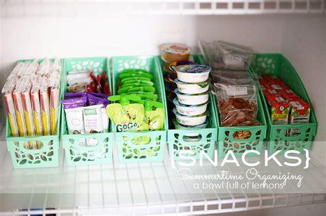 Snack Shelf by Summertime Organizing Snacks A Bowl Of Lemons