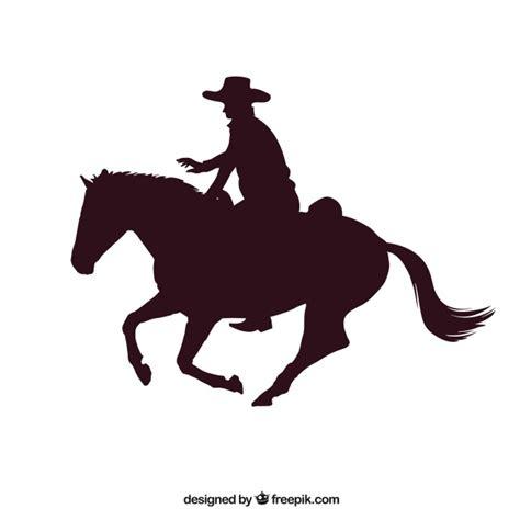imagenes vectores caballos rodeo vaquero que monta un caballo descargar vectores gratis