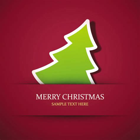 simple xmas tree seasons greeting vector ai svg eps vector