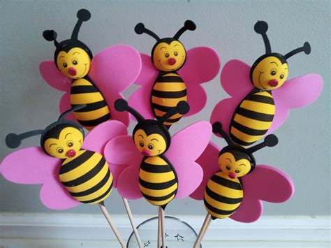 6 Foam Bumble Bee Centerpieces Party Decorations Bumble Bee Ideas